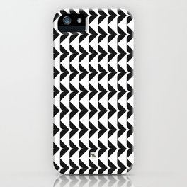 MODERN TRIBAL IV - BLACK iPhone Case