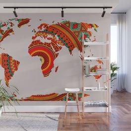 Mandala World Map Wall Mural
