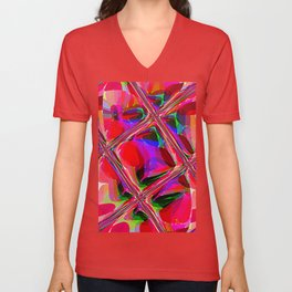 Re-Created  Glass Ceiling III by Robert S. Lee Unisex V-Neck