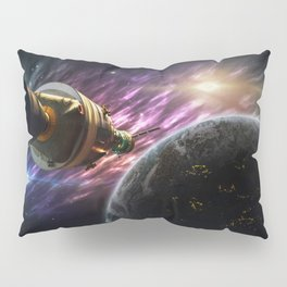 Space travel around planet Pillow Sham