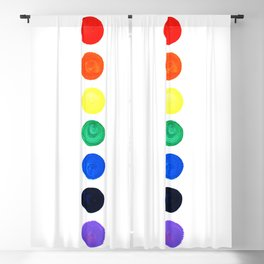 Chakras painted Blackout Curtain