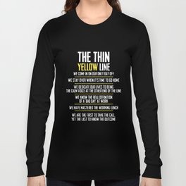 the thin yellow line hipster t-shirts Long Sleeve T-shirt