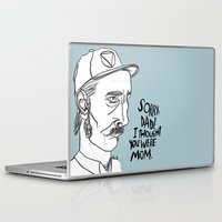 dad Laptop & iPad Skins featuring SORRY, DAD! by Josh LaFayette
