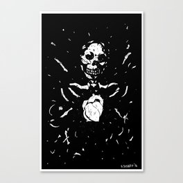 Worship the dark III Canvas Print