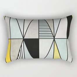 Colorful concrete triangles Rectangular Pillow