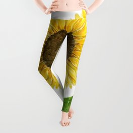 Sunflower watercolor Leggings