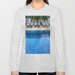 Summer Swimming Pool Long Sleeve T-shirt