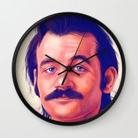 murray Wall Clocks featuring Young Mr. Bill Murray by Thubakabra