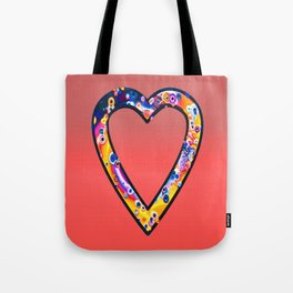 Heart in bright sunny colours Tote Bag