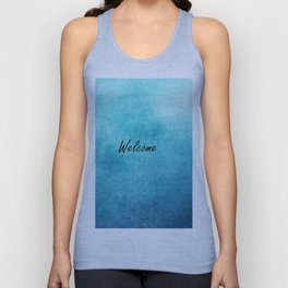 Turquoise Texture Welcome |  Texture Turquoise Unisex Tank Top