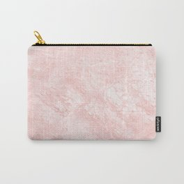 Blush pink white elegant modern marble Carry-All Pouch