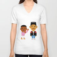 fresh prince V-neck T-shirts featuring The Fresh Prince (Version 2) by Evan Gaskin