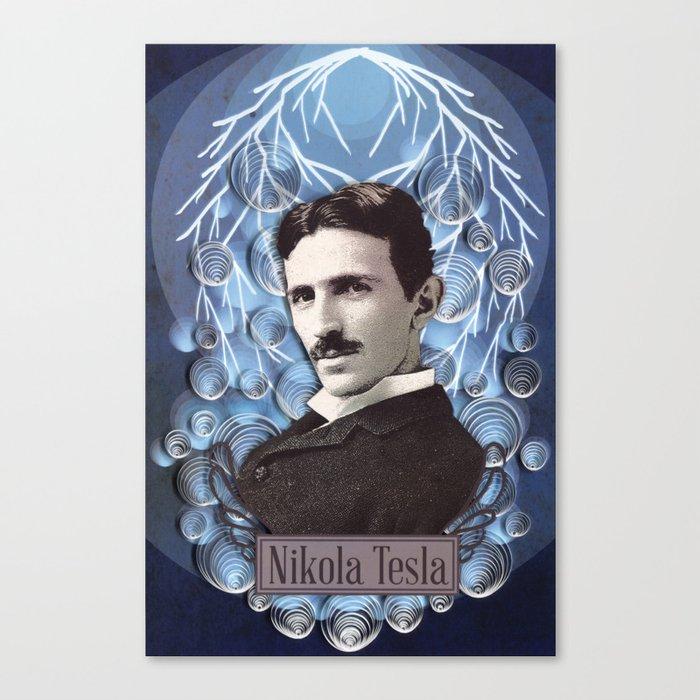 nikola tesla poster paper art print canvas print by yakawonis