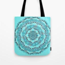 Mandala: Floral Blues Tote Bag