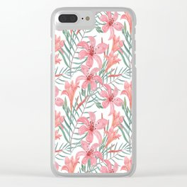 Pink lilies. Clear iPhone Case