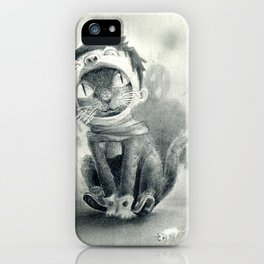 Cat with Boy Hat iPhone Case