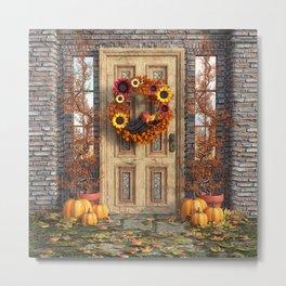 Harvest Door Metal Print