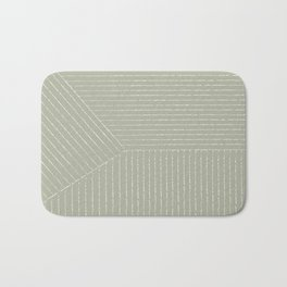 Lines (Linen Sage) Bath Mat
