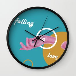 Graphic Poster #08 - Falling in Love Wall Clock