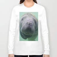manatee Long Sleeve T-shirts featuring Manatee by Heidi Ingram