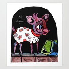 Bambi has just escaped... Art Print