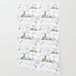 Garden Bunnies Wallpaper
