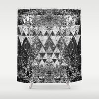 triangles Shower Curtains featuring TRIANGLES. by Council for design.