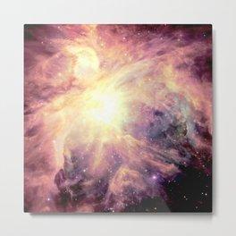 Mauve Colorful Pastel Orion Nebula Metal Print