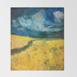 Yellow Fields Throw Blanket