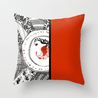 ukraine Throw Pillows featuring Mood of Ukraine by rusanovska