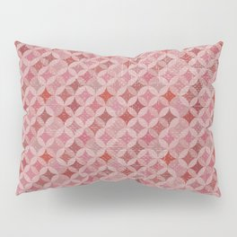 Vintage chic pink red geometrical quatrefoil pattern Pillow Sham