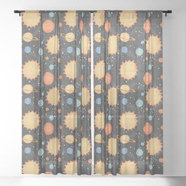 Our Solar System Sheer Curtain