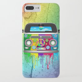 Hippie Bus Van Dripping Rainbow Paint iPhone Case