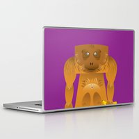 furry Laptop & iPad Skins featuring Furry Ape by Yay Paul