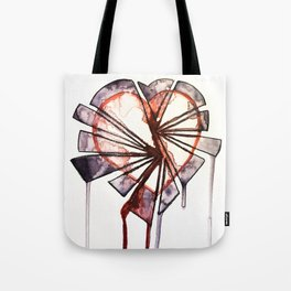 Shattered heart Tote Bag