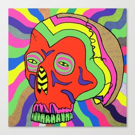 Hallucinogenic Skull Canvas Print