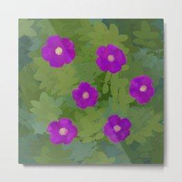 Flower Rosa Rugosa Metal Print