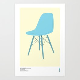 EAMES Ray & Charles Eames Molded Side Chair Art Print