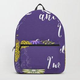 Ultra Violet I'm Not Anti Social Backpack