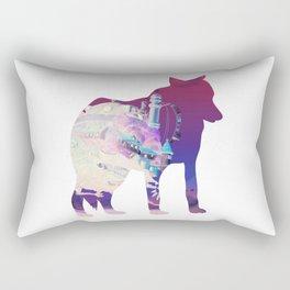 Dog Silhouette Rectangular Pillow