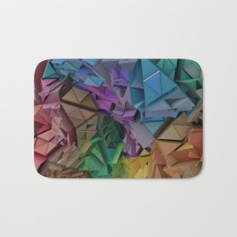 Colorful Low Poly 3D Abstract  Bath Mat