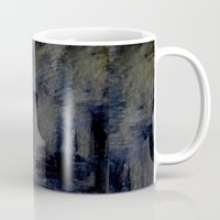 imagerybydianna Mugs featuring city, dark by Imagery by dianna