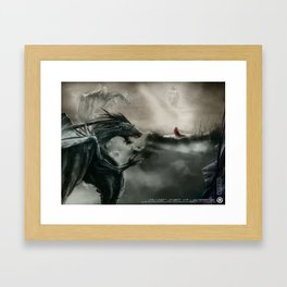 Lonely soldier Framed Art Print