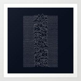 Furr Division Cats (Dark Blue) Art Print