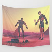 giants Wall Tapestries featuring Giants  by @slimesunday