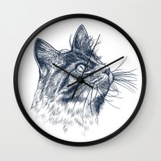 Cat Portrait Wall Clock