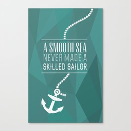 Skilled Sailor Canvas Print