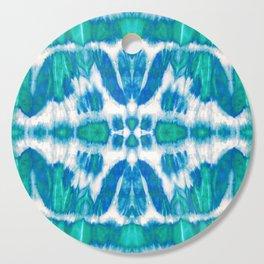 Tie-Dye Twos Aqua Cutting Board