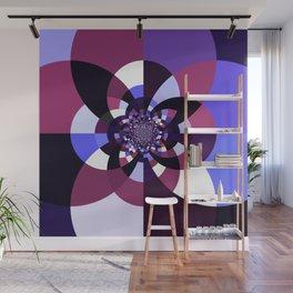 Purple Magenta Periwinkle Kaleidoscope Mangala Wall Mural