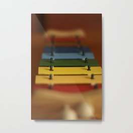Color Music Xylophone  Metal Print